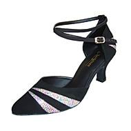 De moderne aanpassen vrouwen naaldhak paillette met sprankelende glitte dansschoenen