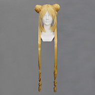 Cosplay Wigs Sailor Moon Sailor Moon Golden Long Anime Cosplay Wigs 100 CM Heat Resistant Fiber Female