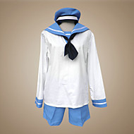 Inspired by Hetalia Sealand Anime Cosplay Costumes Cosplay Suits / School Uniforms Patchwork White / Blue Long SleeveTop / Pants / Cap /