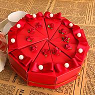 rote Blume Kuchen zugunsten Box mit Perle (Satz 10)