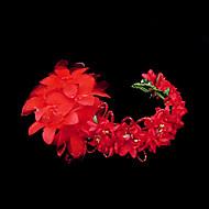 Dame Sateng/Imitert Perle/Papir Headpiece Bryllup/Spesiell Leilighet Pannebånd/Blomster Bryllup/Spesiell Leilighet