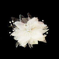 cetim lindo / imitação de pérolas casamento flores / headpiece