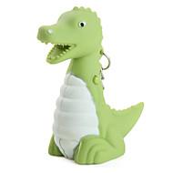 keychain δεινόσαυρος με οδήγησε φακό και ηχητικά εφέ (πράσινο)