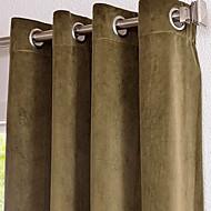 twopages® algodão / cortinas sólidas casuais rayon drapestwo painéis