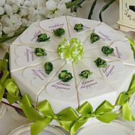 녹색 케이크 유리 상자의 터치 (10 세트)