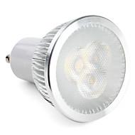 6W GU10 Lâmpadas de Foco de LED MR16 3 LED de Alta Potência 310 lm Branco Natural Regulável AC 220-240 V