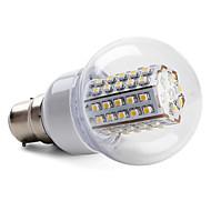5W B22 / E26/E27 LED Globe Bulbs 66 SMD 3528 430 lm Warm White / Natural White AC 220-240 V