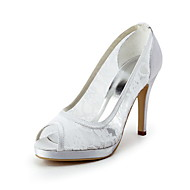Satin Stiletto Heel Platform Wedding Shoes (More Colors Available)