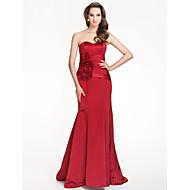 Floor-length Satin Bridesmaid Dress - Ruby Plus Sizes / Petite Trumpet/Mermaid Strapless / Sweetheart