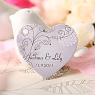 personalizado coração tag favor em forma - leves flores roxas (conjunto de 60)