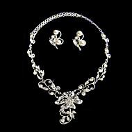 Women's Alloy Jewelry Set Rhinestone/Pearl/Cubic Zirconia