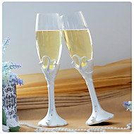 Double Heart 'Our Moment' Champagne Toasting Flutes