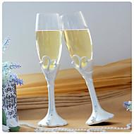 """Double Heart 'vår øyeblikk """"champagne ristende fløyter"""