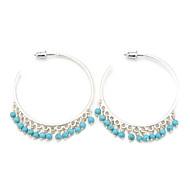 Hoop Earrings Women's Alloy Earring Multi-stone