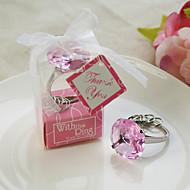 """""""Med denna ring"""" kristall nyckelring (rosa)"""