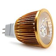 Lâmpada de Foco GU5.3 W 450 LM 3000K K Branco Natural 3 LED de Alta Potência DC 12 V MR16