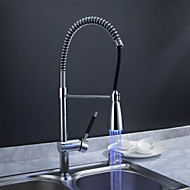 Sprinkle® Kitchen Faucets  ,  Transitional  with  Chrome Single Handle One Hole  ,  Feature  for LED / Centerset