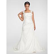 Lanting Bride® Trumpet / Mermaid Petite / Plus Sizes Wedding Dress - Classic & Timeless Fall 2013 Chapel Train Square Chiffon with