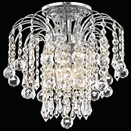 Modern 3 - Light Flush Mount Lights with Crystal Drops