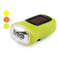 1-Mode 3-LED Flashlight (Solar/Dynamo-Powered, Assorted Colors)