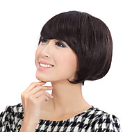 Capless Natural Look Short Black Wavy Human Hair Wig
