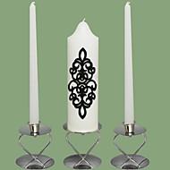 damask bryllup enhet lys set-hvite (lysestaker ikke inkludert)