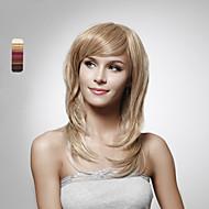 senza cappuccio 100% capello umano parrucca di lunghi capelli staight 5 colori da scegliere
