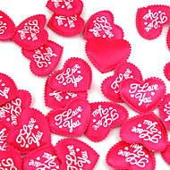 Wedding Décor Lovely Red Satin Hearts - Set Of 100