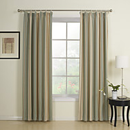 Mediterranean Two Panels Stripe Multi-color Bedroom Rayon Panel Curtains Drapes