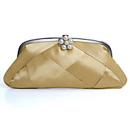 Satin With Imitation Pearl Evening Handbags/ Clutches More Colors Available