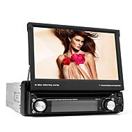 7-tums 1 DIN tft skärm i-dash bil dvd-spelare med bluetooth, navigation färdiga gps, rds, avtagbar panel, tv