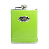 gift groomsman gepersonaliseerde groen 8-oz fles