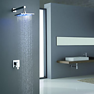 Sprinkle® Shower Faucets  ,  Contemporary  with  Chrome Single Handle Two Holes  ,  Feature  for LED Wall Mount