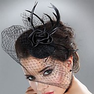 Women's Feather Tulle Headpiece-Wedding Special Occasion Fascinators