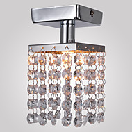 25 Flush Mount ,  Modern/Contemporary Chrome Feature for Crystal Mini Style Metal Living Room Bedroom Entry