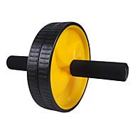 Rolar roda de exercício dupla com Joelheira