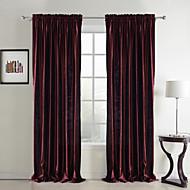 2 paneeli Uusklassiset Tukeva Punainen Makuuhuone Polyesteri Paneeli Verhot Drapes