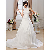 Lanting Bride A-line / Princess Petite / Plus Sizes Wedding Dress-Chapel Train