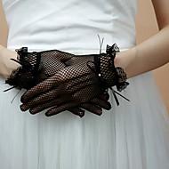 gants belles bout des doigts spandex résille longueur de poignet gants soirée / partie