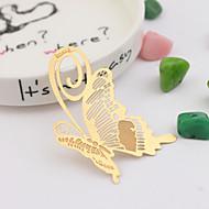 Zinkové slitiny Praktické ODMĚNY záložky do knížky a otvírače dopisů Motýlí motiv Zlatá