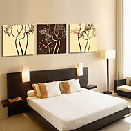 moderne stijl boom thema wandklok in canvas 3pcs