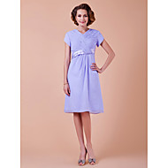 A-line Apple / Hourglass / Inverted Triangle / Pear / Rectangle / Plus Size / Petite / Misses Mother of the Bride Dress Knee-lengthShort