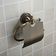 Toilet Paper Holder Antique Bronze Wall Mounted 18*13.5*7.5 Brass Antique