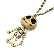 Antique Copper Vintage Skeleton Man Necklace