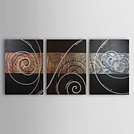 Hand-Painted Abstract Horizontal Panoramic,European Three Panels Canvas Oil Painting For Home Decoration