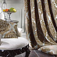 Rococo Two Panels Paisley Brown Bedroom Polyester Curtains Drapes
