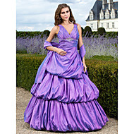 TS Couture® Prom / Formal Evening / Quinceanera / Sweet 16 Dress - Lilac Plus Sizes / Petite Ball Gown / A-line / Princess V-neck Floor-length Taffeta