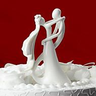 Kakepynt Klassisk Par Keramisk Bryllup / Bridal Shower Hvit Klassisk Tema Gaveeske