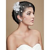 Gorgeous Tulle Wedding Bridal Flower/ Headpiece White