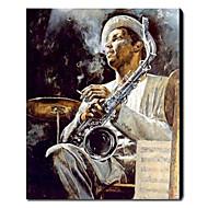 Håndmalt Oljemaleri Folk Jazz Art 1211-PE0148